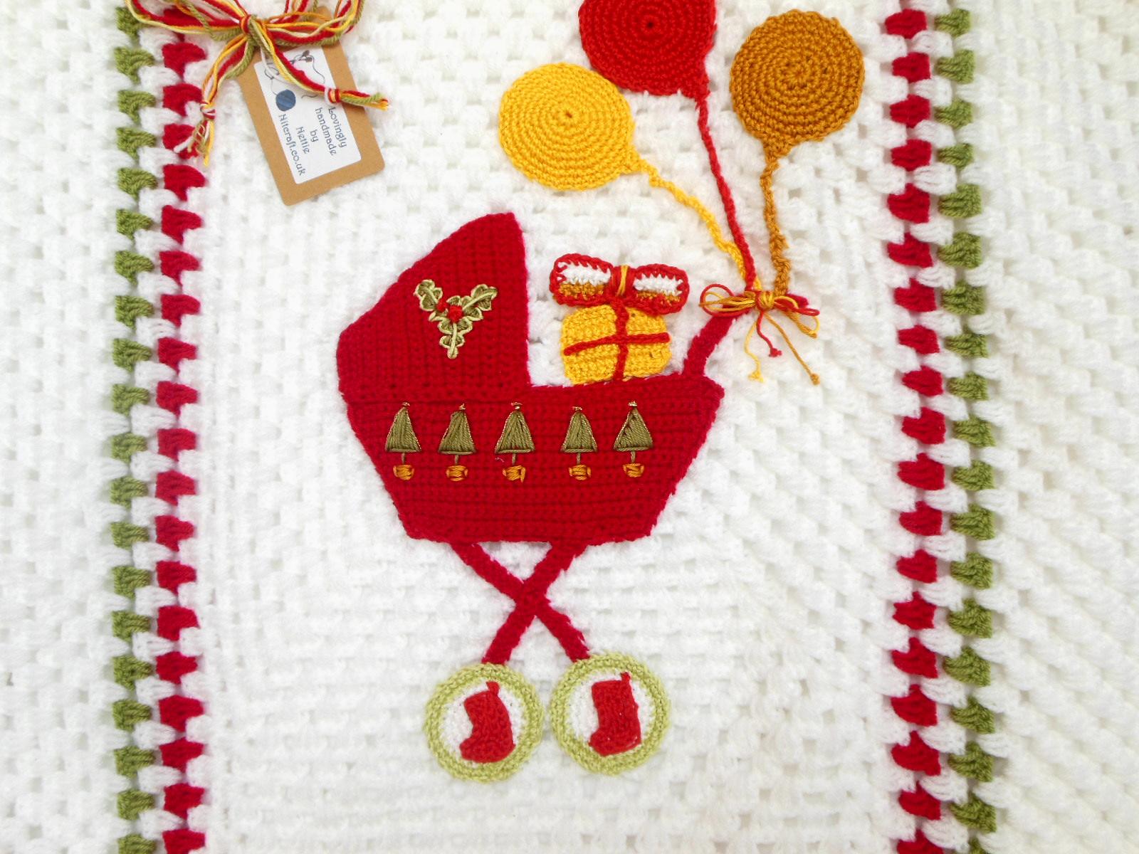 Christmas Crochet Baby Blanket Baby Gift