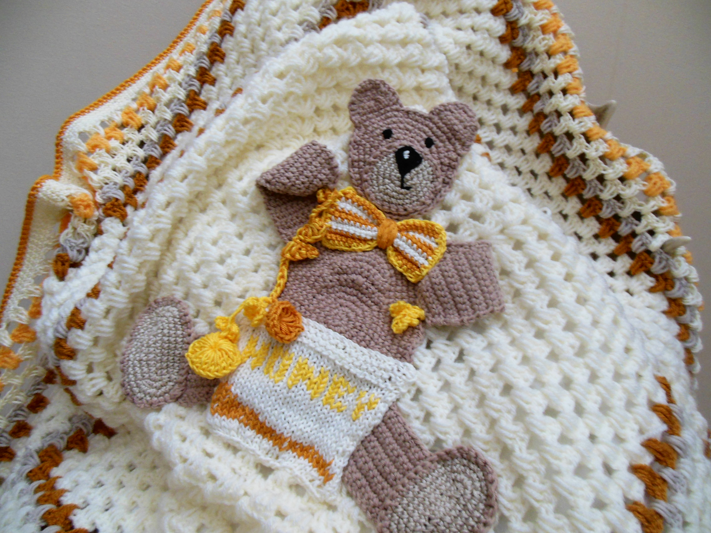 Crochet Toy Amigurumi Teddy Bear , Crochet Bear, Wool Bear, Brown ... | 1704x2272