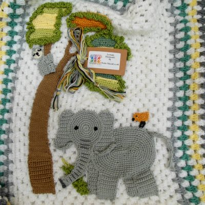 elephant- crochet- baby- blanket- elephant-themed-nursery