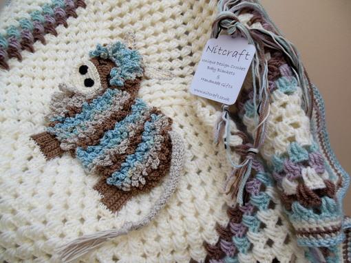 crochet highland cow baby blanket